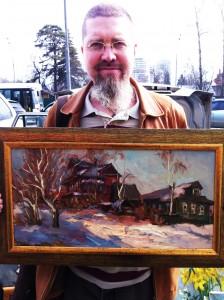 Мастер Го с пейзажем города Тутаев